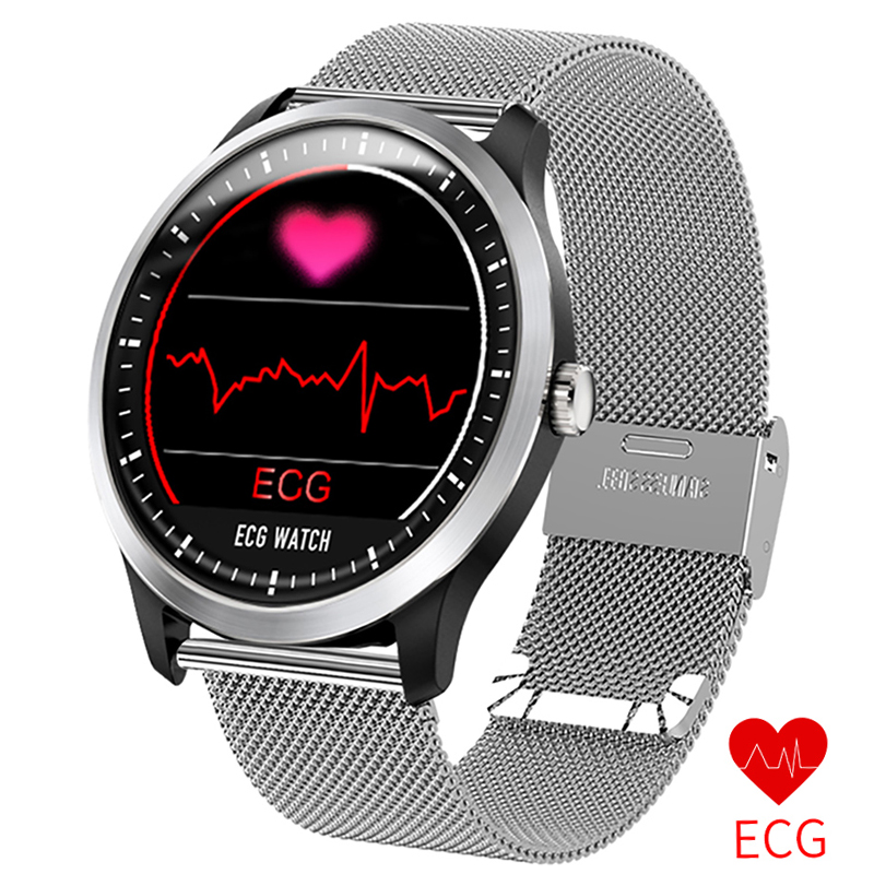 New N58 ECG PPG smart watch with electrocardiograph ecg display,heart rate monitor blood pressure fitness men women smart watch