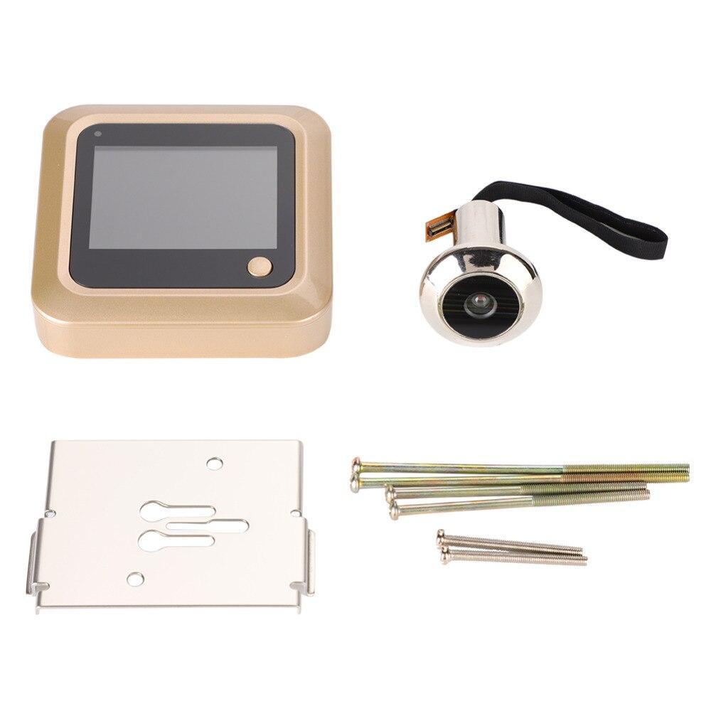 Multifunción de seguridad inteligente para el hogar 2,4 pulgadas TFT LCD Digital memoria puerta mirilla visor inalámbrico timbre cámara de seguridad