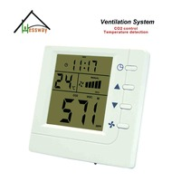 Smart co2 gas monitor discolor controller Air Controller VOC CO2 switch Relay fan Ventilator control with RS485