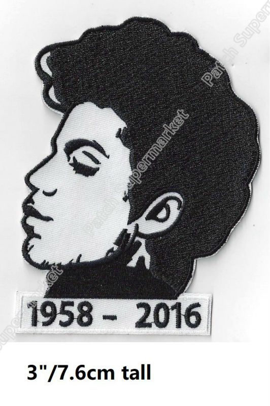 Prince Tribute Music Band Logo Iron On Patches Embroidered
