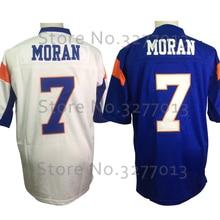 2018 barato  7 Alex Moran Jersey Blue Mountain State cabras fútbol Jersey  cosido película TV 712b2b5b219