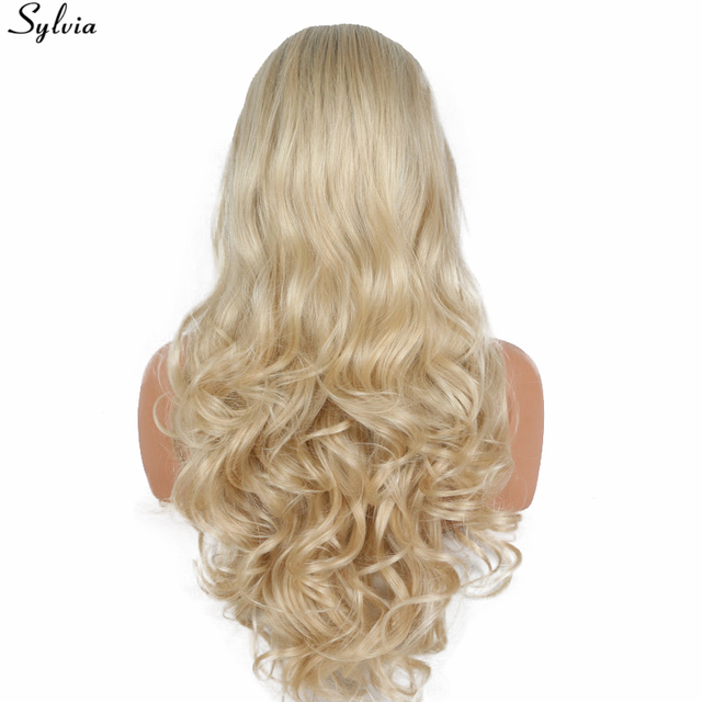 Sylvia Body Wave Bombshell Blonde Ombre Dark Root Synthetic Lace