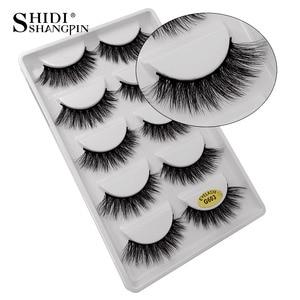 Image 5 - New 10 lots wholesale factory price mink false eyelashes hand made false eyelash natural long 3d mink lashes makeup faux cils