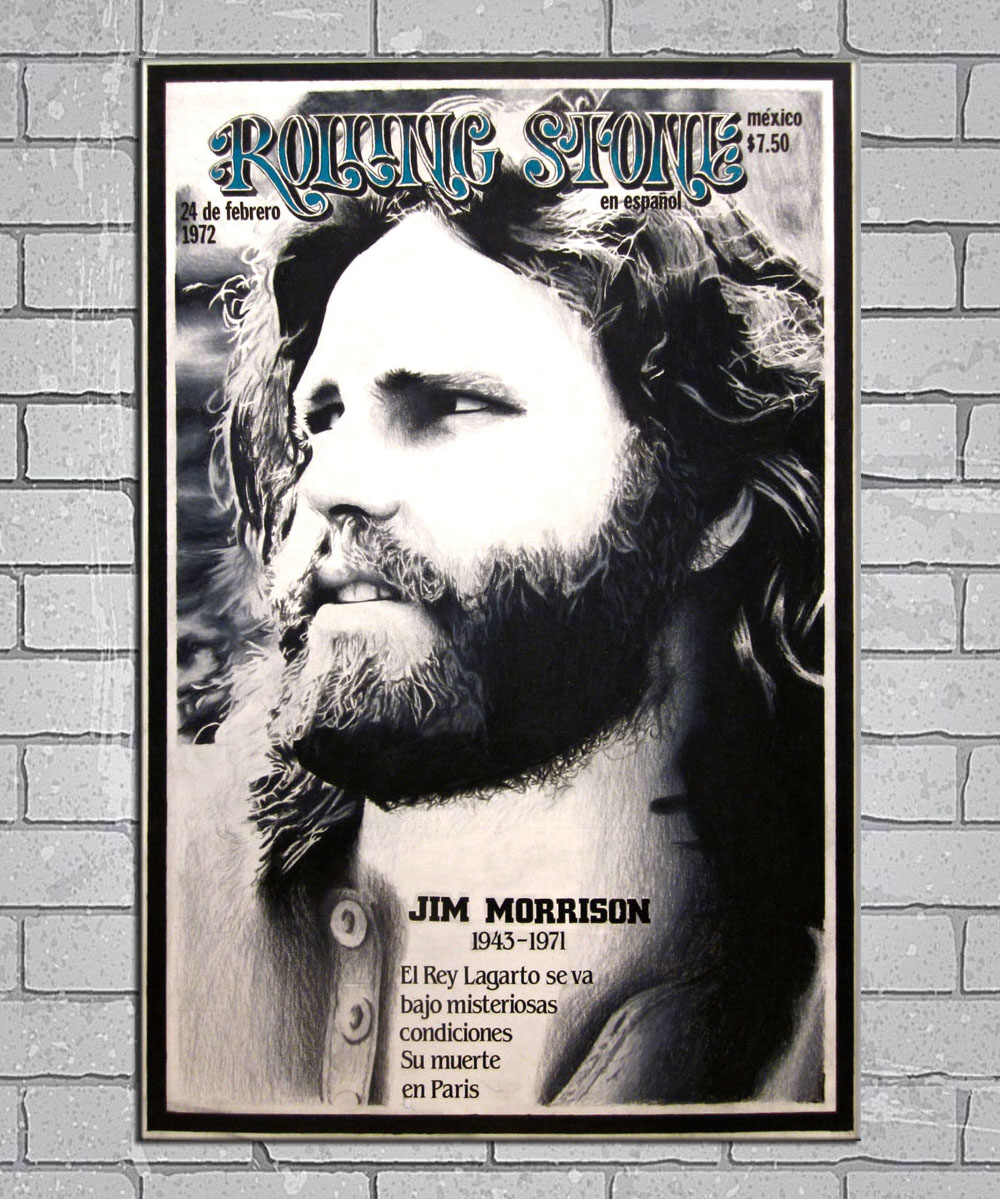 The Doors Rock Band Vintage Jim Morrison Music Light Canvas