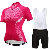 2018 Women Cycling Jersey Feminino Ropa Ciclismo Breathable MTB Outdoor Sportswear Bike Jerseys With Silica GEL Shorts WM01