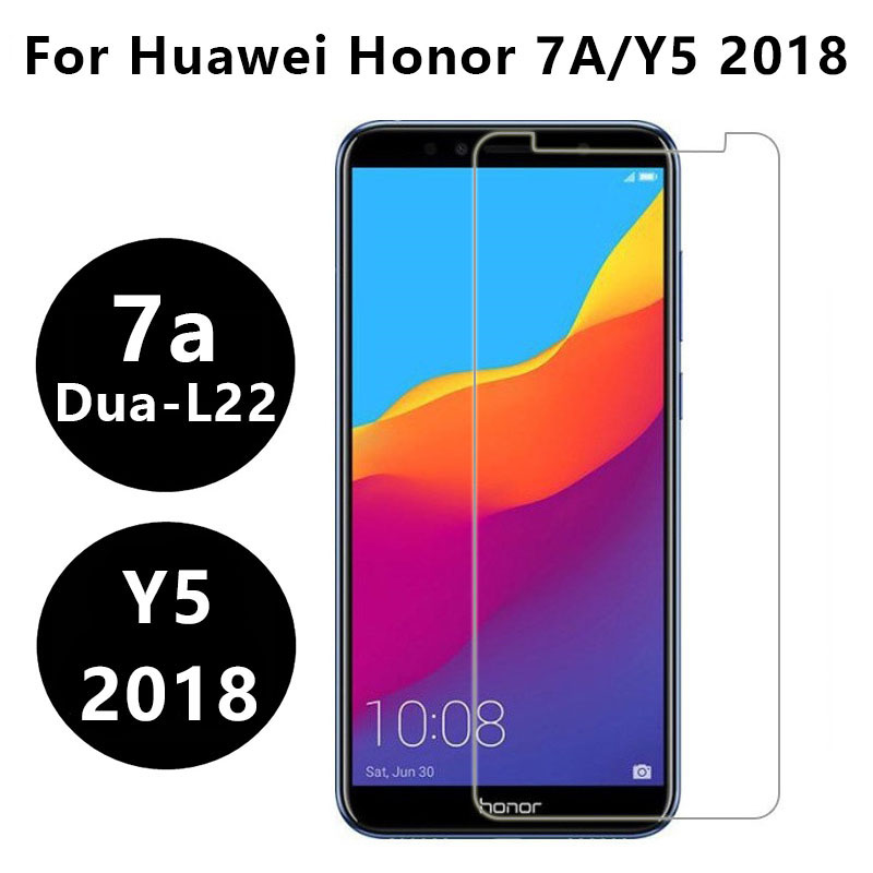 Tempered Glass For Huawei Y5 2018 Honor 7a Protective Glas Dua L22 5.45 Screen Protector On Honor7a 7 A A7 Y 5 5y Y52018 Film 9h(China)