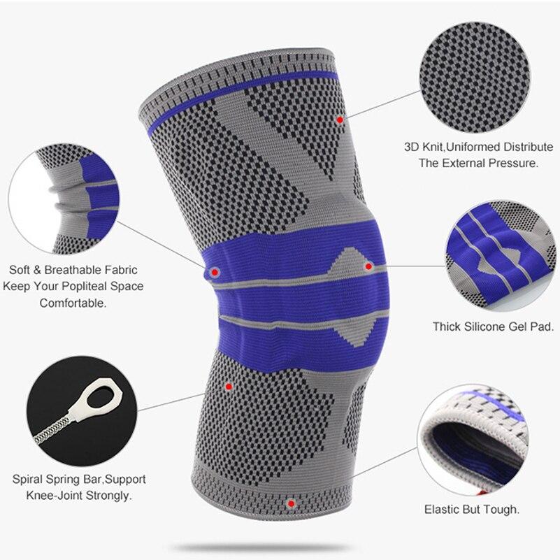 1 stück Elastische Knie Unterstützung Crossfit Klammer Kneepad Einstellbare Patella Knie Pad Laufende Basketball Sicherheit Schutzhülle