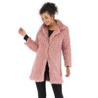Fashion Fleece Sweater Women Winter Cardigan Female Warm Cotton Sweater Veste Femme Long Solid Cardigan Coat