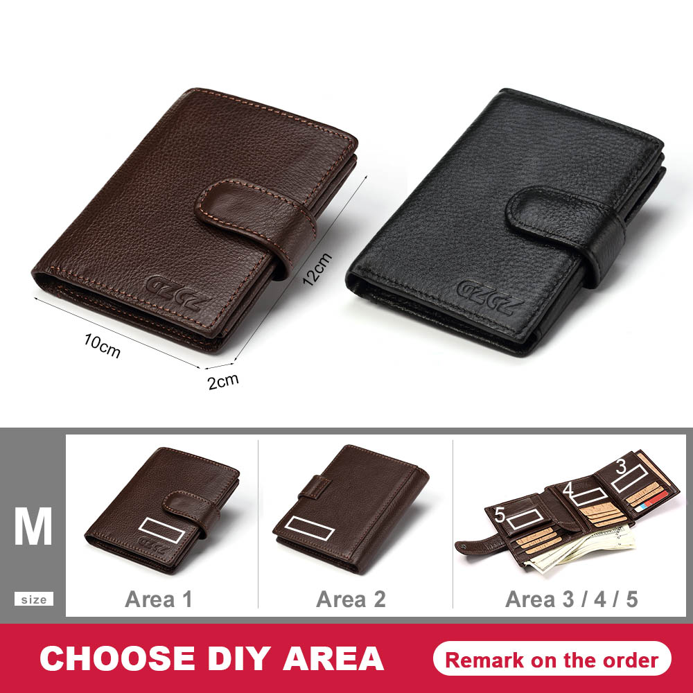 0c729b5565d62 GZCZ New Genuine Leather Men Wallet Purse Male Custom Your Name Wallet Gift  For Boyfriend 2018 carteira masculina Portefeuille-in Wallets from Luggage  ...