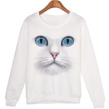 Women New Winter 3D Beads Cat Sweatshirts