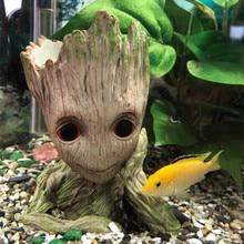 3 стиля милый мультфильм Дерево человек аквариум орнамент смолы аквариум пещера камень украшение растение цветочный горшок бонсай сад домашний декор