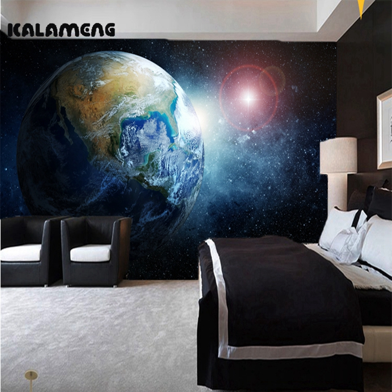 KALAMENG Custom 3D Wallpaper Design The Earth Photo Kitchen Bedroom Living Room Wall Murals Papel De Parede Para Quarto custom baby wallpaper snow white and the seven dwarfs bedroom for the children s room mural backdrop stereoscopic 3d