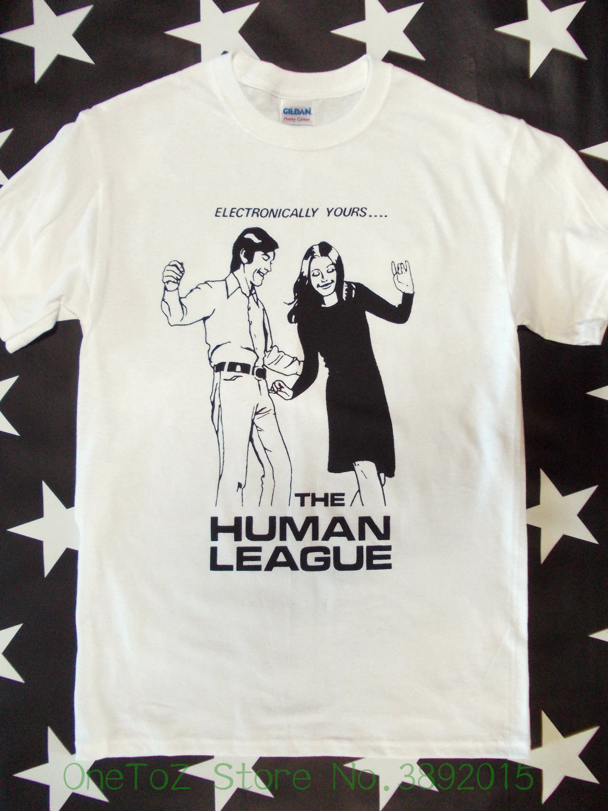 Tshirt Men 2018 New The League T-shirt Screen Printed Fast Records Electronic Punk Heaven 17