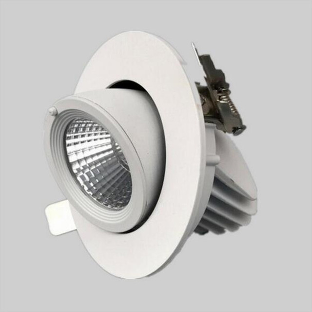 10w 12w dimmable recessed led downlight cob led spot light 10w 12w dimmable recessed led downlight cob led spot light adjustable led ceiling lamp 85 aloadofball Image collections