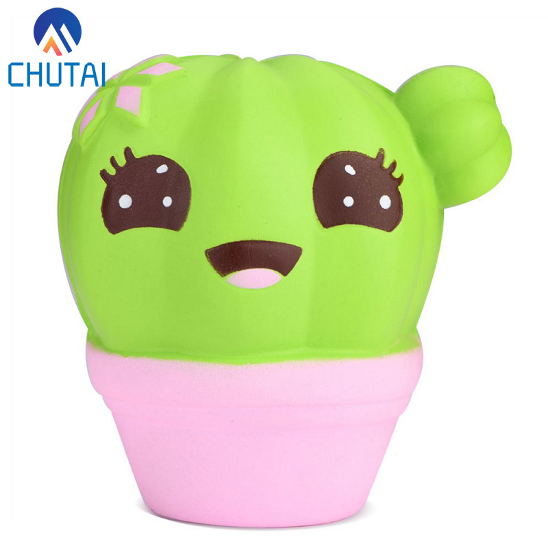 2019 New Arrival Scented Cute Fairytale Decompression Venting Toy PU Slow Rebounding Prickly Pear Cactus Squeezies Toys 10*10CM