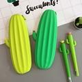 Свежий кактус любовь силиконовый пенал школьный офис поставка хранения канцелярские товары для детей Подарки