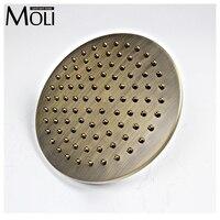 8 rainfall shower head antique brass round head shower rain shower faucet bathroom accessories