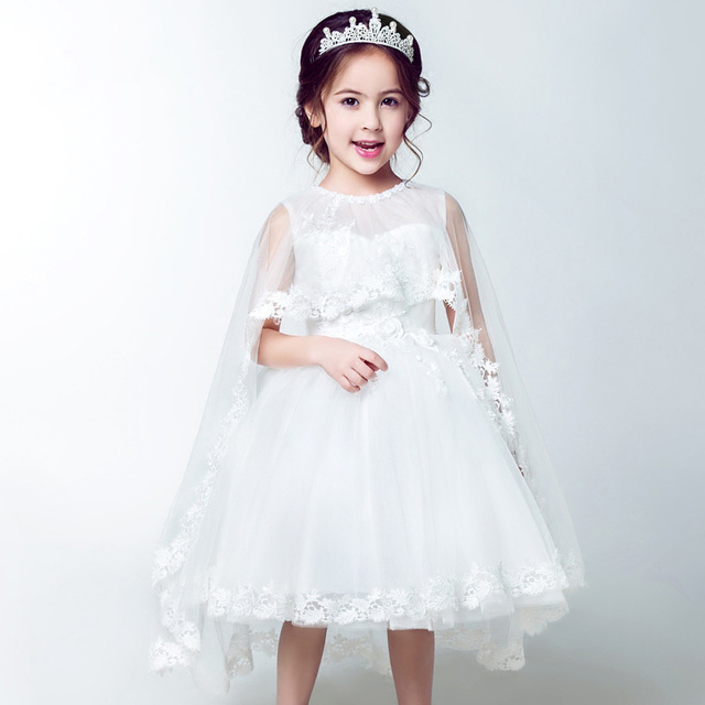 47cf50e22f5a Brand Vintage flower girl dresses wedding dress with cape Embroidery  toddler baby girl party dress summer dress ball gown 13T