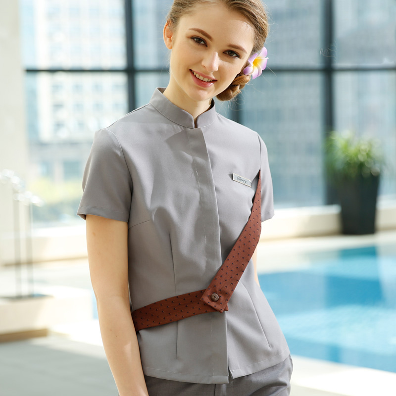 Popular grey uniform pants buy cheap grey uniform pants for Spa uniform female