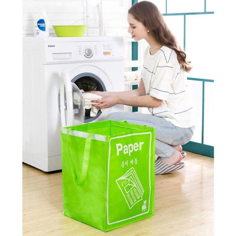 Foldable Cotton Linen Laundry Basket Storage Clothes Storage Basket For Toys Hamper Washing Bag Foldable tool