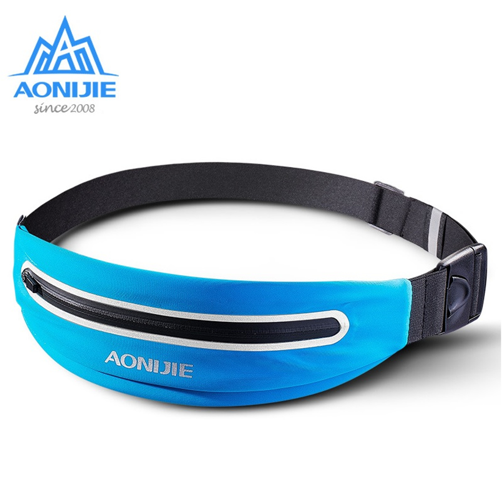 AONIJIE Waterproof Running Waist Bag Men Women Sport Marathon Bag Running Belt Fanny Waist Pack For Phone Running Accessories