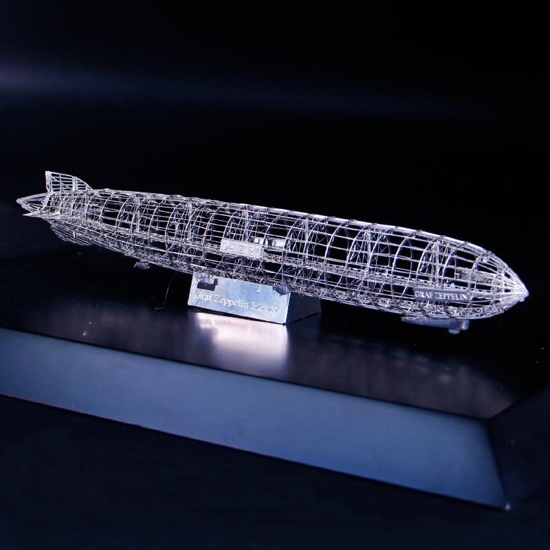 All Metal Stainless Steel DIY Assembled Model 3D Three-dimensional Puzzle Zeppelin Skeleton Desktop Display Toys For Adult Kids