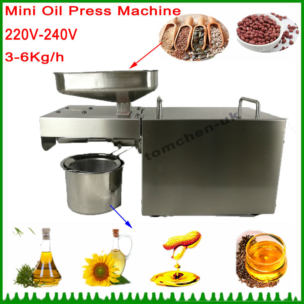 Automatic Nut Seeds Home Use Mini 220V-240V Cold Commercial Oil Press Machine High Oil Extraction Rate