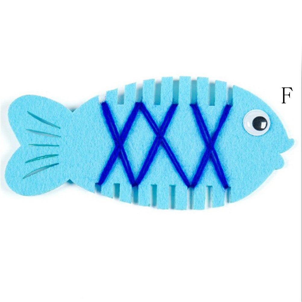 Teaching Aids Math Toy Kindergarten Wrapped Threading Wear Line Fish ...