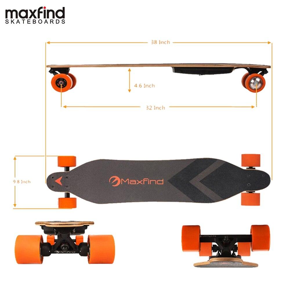 Longboard planche à roulettes électrique simple moteur Hoverboard 4 roues planche à roulettes avec Kit de moteur de moyeu 600 W à distance