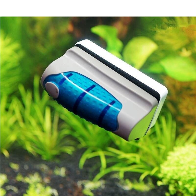 Escova de aquário magnético tanque de peixes limpador de escova magnética tanque de aquário ferramentas de peixes flutuante escova de vidro algas limpeza raspador