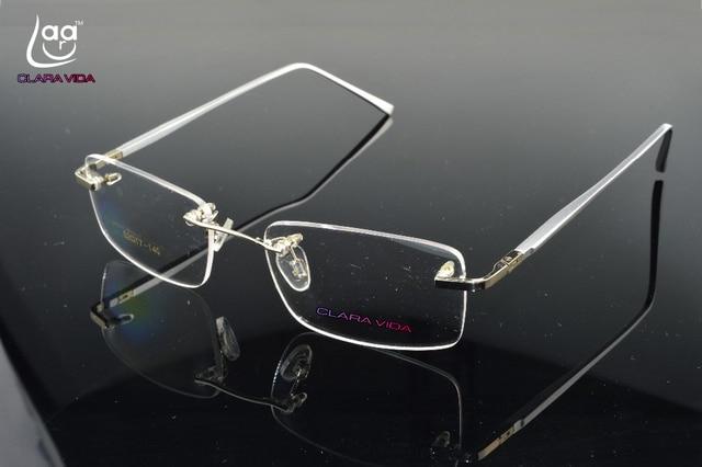 11db7baf3 2017 nova liga de prata perna óculos sem aro titanium frame custom made  lente miopia óptico