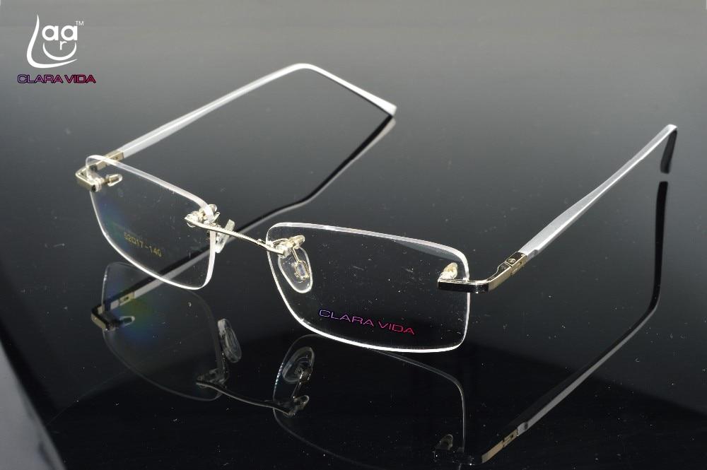 2019 Eyeglasses Glasses New Rimless Titanium Leg Glasses Frame Custom Made Optical Myopia And Reading Lens +1+1.5+2+2.5to+8