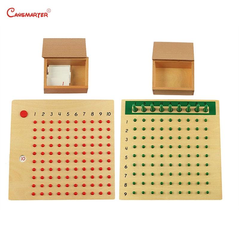 Montessori matériaux mathématiques jouets Multiplication Division jeux de société pour 3-6 ans enfants en bois maths jouets préscolaire MA047-36