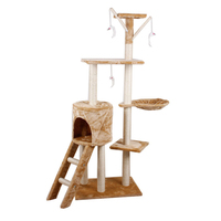 Cat Climbing Tree Tower Condo Scratcher Furniture Kitten House Hammock with Scratching Post and Toys for Cats Kittens Playhouse