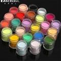 24 Gigante de Color Fina Brillante Glitter Nail Art Kit ULTRAVIOLETA de Acrílico del Polvo del polvo Tip 3D DIY