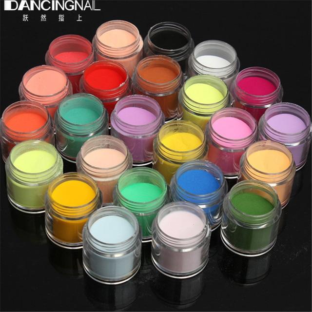 24 צבע ג 'מבו בסדר מבריק גליטר נייל אמנות ערכת אקריליק UV אבקת אבק עצה 3D DIY