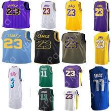 bad1e3655 23 LeBron James Men Basketball Jersey 11 Kyrie Irving 77 Luka Doncic 3  Dwyane Wade city