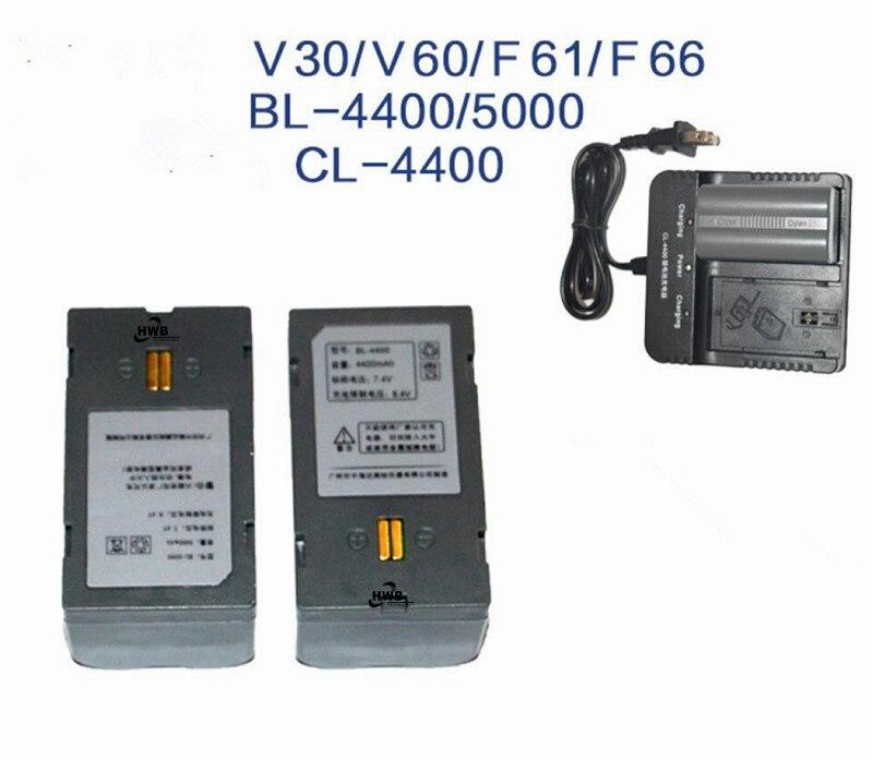 2pc NEW 7.4V 4400mAh BL-4400 battery for Hi-target V30,V50,F61,F66 GNSS RTK GPS+BL-4400 CL-4400 BL-5000 Charger