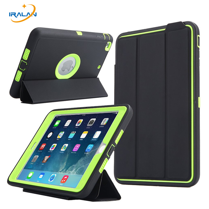 2018 New Luxury Smart For Apple iPad Mini 1 2 3 case kids Safe Armor Shockproof Heavy Duty Silicone Hard Protective C  3 in 1