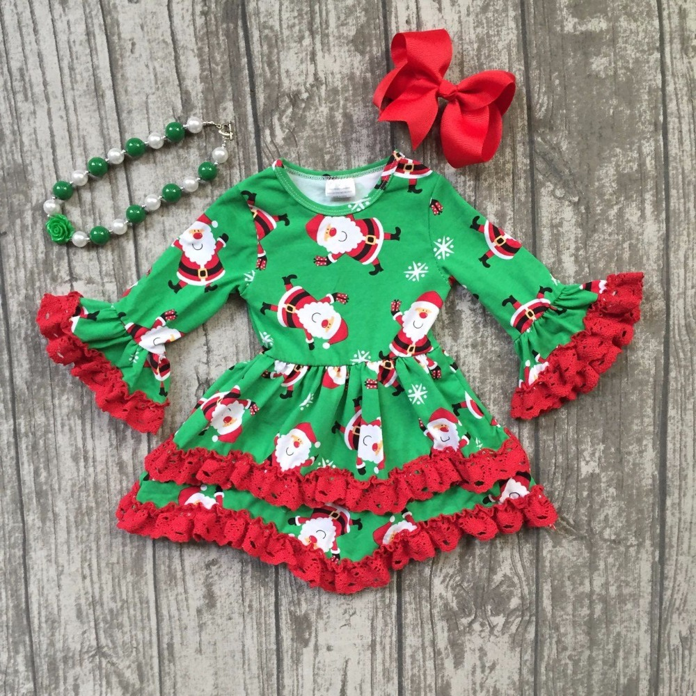 baby girls Christmas Santa Claus dress girls Christmas red ruffle dress Christmas party dress long sleeve with accessories baby girls halloween pumpkin dress girls halloween stripe ruffle dress halloween party dress long sleeve with accessories