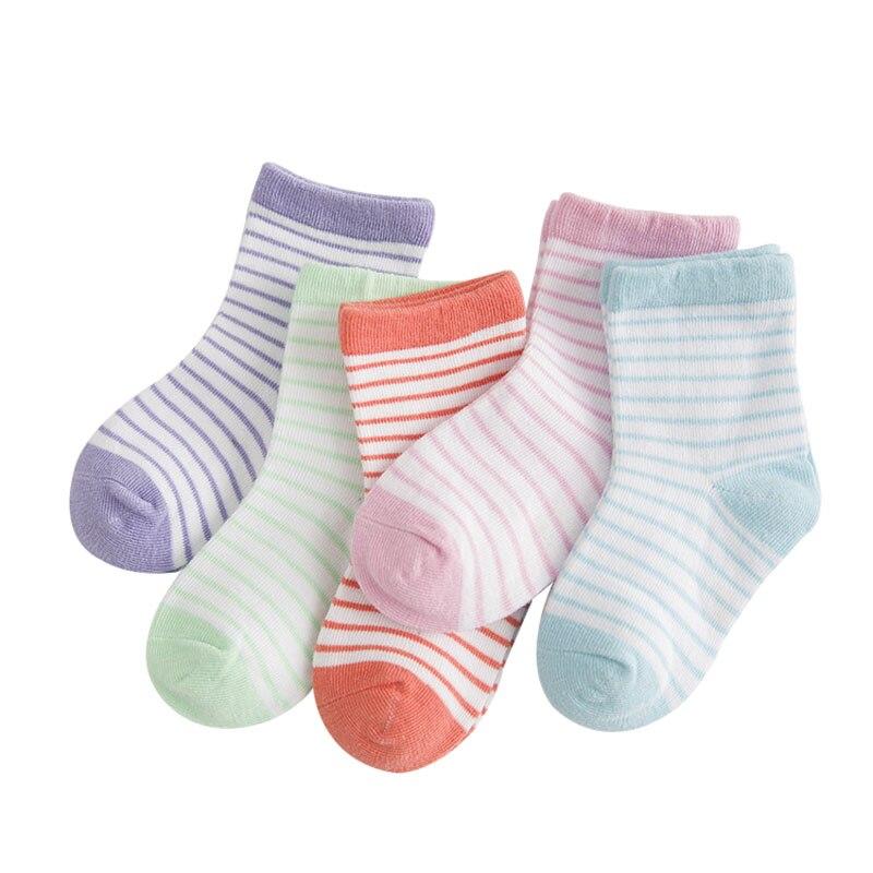 0-6 Jahre 5 Paare/los Kinder Nettes Kind Baby Socken Junge Mädchen Ultradünne Casual Candy Farbe Patchwork Farbe Socke Kinder Baumwollsocke