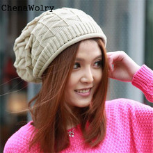 ChenaWolry Fashion Accessories 1PC Fashion Women Lady Girls Triangle Diamond Warm Knitted Wool Hats Cap Oct 12
