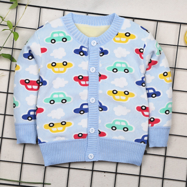 US $6.0 40% OFF Autumn Winter Clothes For Baby Boys Kid Car Plane Warm Sweaters 0 2years Toddler Boy Cardigan O neck Thick Outerwear baby clothes boy