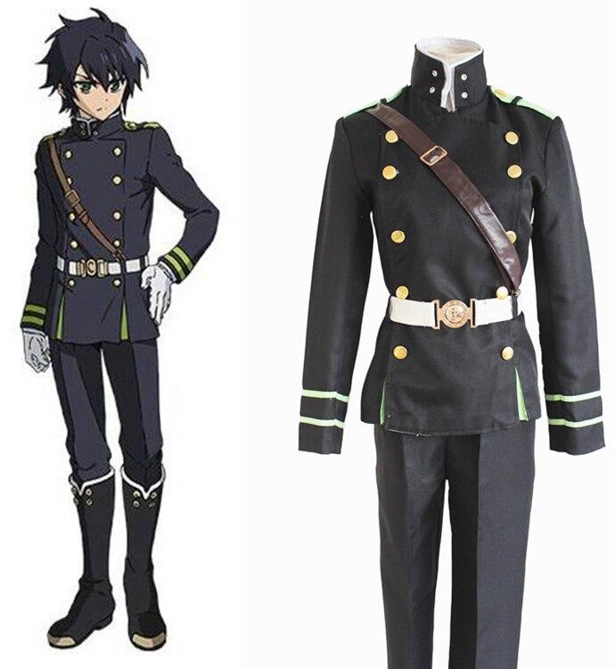 Anime Seraph Of The End Owari no Seraph Yuichiro Hyakuya Cosplay Costume Full Set Uniform