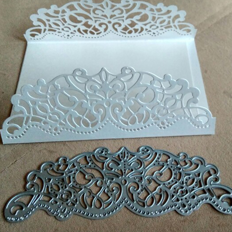 1pc Cutting Dies Making Scrapbook Greeting Card Edge Lace Hollow Border Metal Cutting Dies Stencil Frame Embossing Template