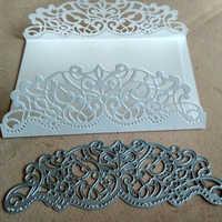 1pc troqueles de corte que hacen álbum de recortes tarjeta de felicitación borde de encaje hueco Metal corte troqueles marco Plantilla de relieve