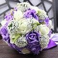 Пять Цветов Свадебный Свадебный Букет Ручной Работы PE Розы buque де noiva свадебные цветы свадебные букеты