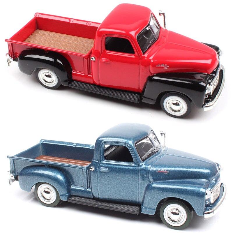 Yat ming escala 1:43 quente 1950 gmc pick up caminhão dever van metal diecast modelo de carro miniaturas brinquedo colecionável automático para crianças menino