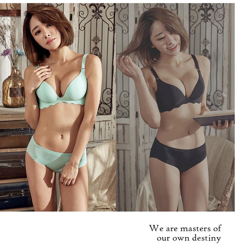 Jerrinut Sexy Push Up Bras For Women Seamless Women\`s Bra Underwear Lingeries Bralette Ultra-thin Thick Brassiere Femme Bra 13