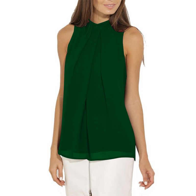 NIBESSER רב צבע מוצק אפוד חולצה נשים שיפון חולצות אופנה מקרית שרוולים 2018 קיץ למעלה Femininas Blusas חולצות